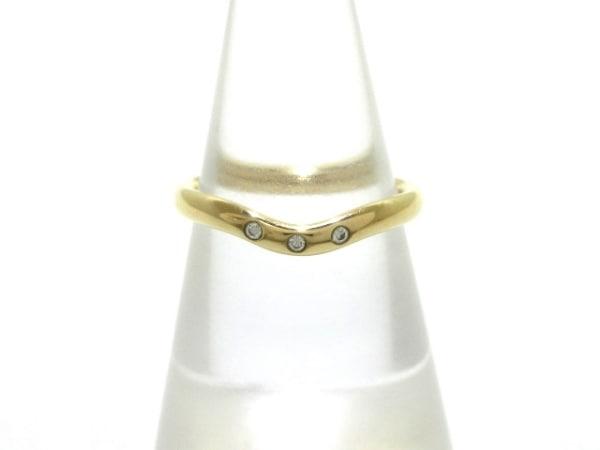 TIFFANY&Co.(ティファニー) リング美品  カーブドバンドリング K18PG×ダイヤモンド