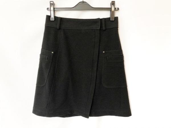 ブルーレーベルクレストブリッジ スカート サイズ36 S レディース美品  黒