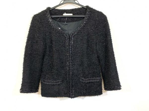 Cara(カーラ) ジャケット サイズMC レディース 黒 スパンコール/ラメ