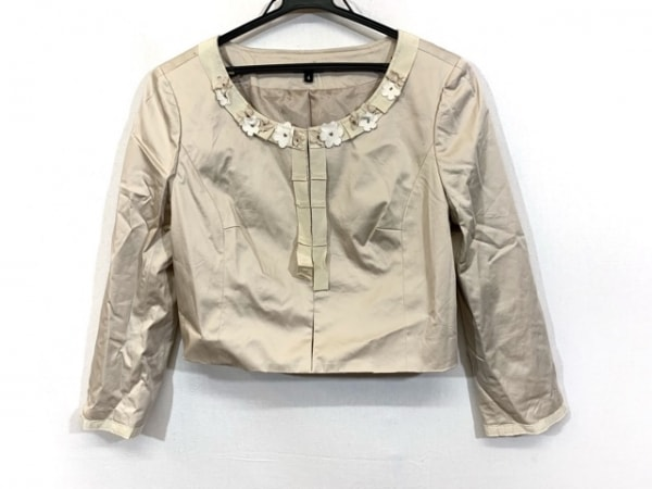 TOCCA(トッカ) ジャケット サイズ4 S レディース ベージュ フラワー