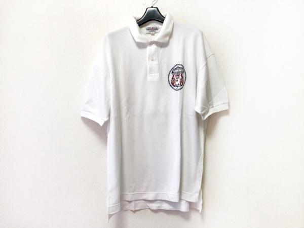 CAPTAIN SANTA(キャプテンサンタ) 半袖ポロシャツ サイズL メンズ 白×マルチ