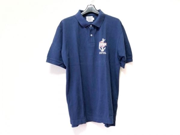 Shonanbo(ショーナンボー) 半袖ポロシャツ サイズL メンズ ネイビー×マルチ