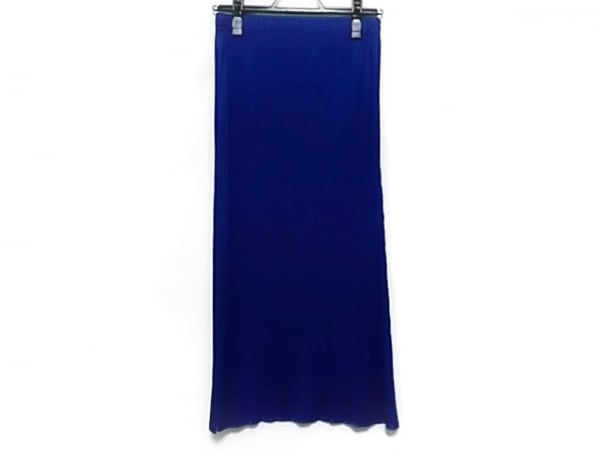 プリーツプリーズ ロングスカート サイズ1 S レディース美品  ブルー プリーツ