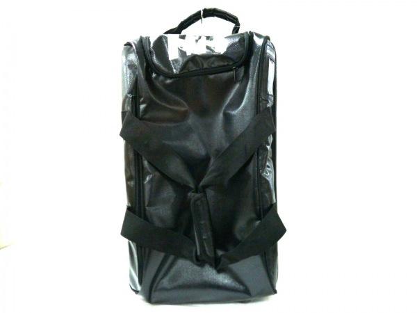 ヘリーハンセン キャリーバッグ美品  黒×白 PVC(塩化ビニール)×ナイロン