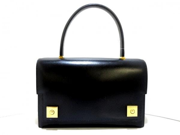 HERMES(エルメス) ハンドバッグ美品  ピアノ 黒 ボックスカーフ