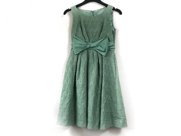 CEST LAVIE(セラヴィ) ドレス サイズ11 M レディース ライトグリーン リボン/ラメ