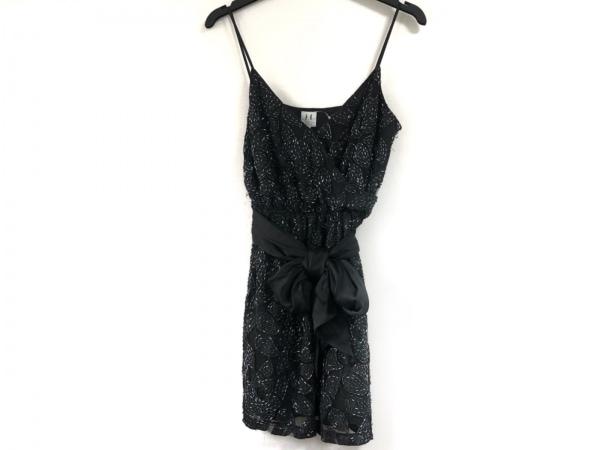 halston(ホルストン) ドレス サイズ4 XL レディース 黒 ビーズ