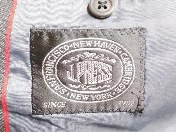 J.PRESS(ジェイプレス) シングルスーツ メンズ美品  グレー ネーム刺繍/3B