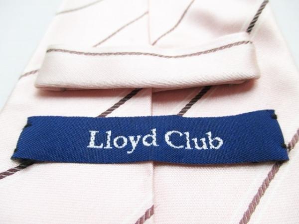Lloyd Club(ロイドクラブ) ネクタイ メンズ ピンク×ボルドー 3