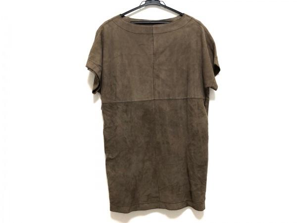 Cinquanta(チンクアンタ) ワンピース サイズ40 M レディース美品  ブラウン 羊革