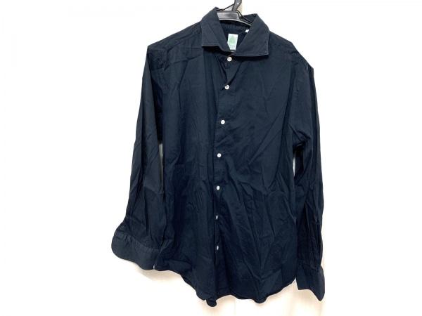 finamore(フィナモレ) 長袖シャツ サイズL メンズ美品  ネイビー