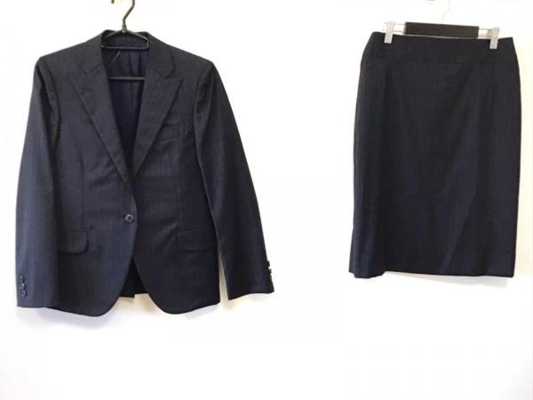 ラピスルーチェビームス スカートスーツ サイズ40 M レディース美品  黒×グレー