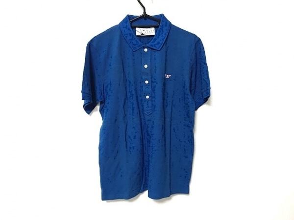 Kitsune(キツネ) 半袖ポロシャツ サイズM メンズ美品  ブルー