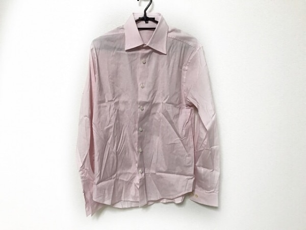 theory(セオリー) 長袖シャツ サイズ38 M メンズ美品  ピンク チェック柄