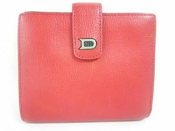 DELVAUX(デルボー) 2つ折り財布 レッド レザー