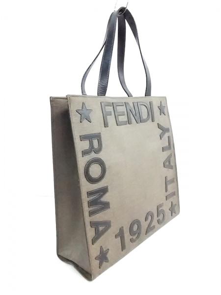 FENDI(フェンディ) ハンドバッグ - - ベージュ×黒 PVC(塩化ビニール)×レザー