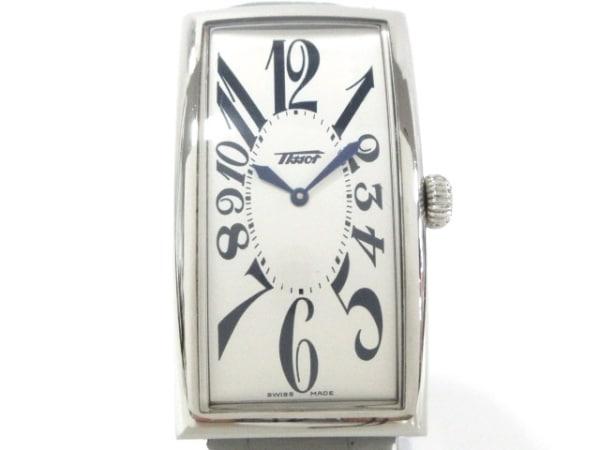 TISSOT(ティソ) 腕時計美品  バナナウォッチ Z181 レディース アイボリー×ネイビー