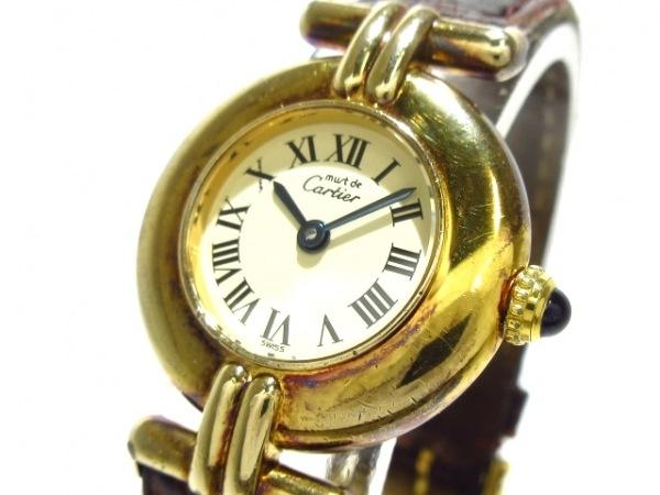 カルティエ 腕時計 ヴェルメイユ W100065301 レディース 革ベルト/925 アイボリー