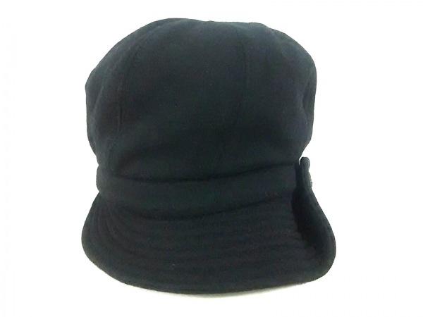 CHANEL(シャネル) 帽子美品  黒 キャスケット ウール