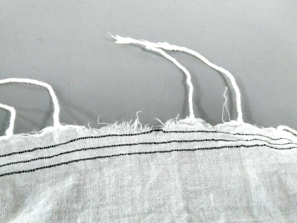 ENCHANTEMENT...?(アンシャントマン) ストール(ショール)美品  白×黒 コットン