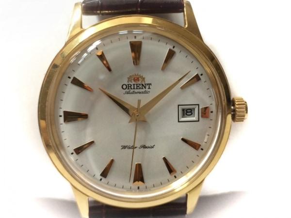 ORIENT(オリエント) 腕時計 バンビーノ ER24-A0-B レディース 革ベルト/型押し加工