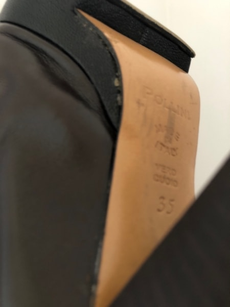 POLLINI(ポリーニ) 靴 35 レディース ダークブラウン アウトソール張替済 レザー