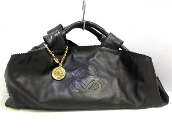 LOEWE(ロエベ) ハンドバッグ ナッパアイレ 黒 ナッパレザー