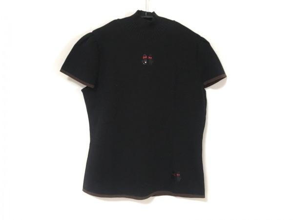 エムズグレイシー 半袖カットソー サイズ40 M レディース美品  黒×ブラウン×レッド