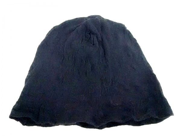 COEUR(クール) ニット帽美品  黒 コットン×アクリル