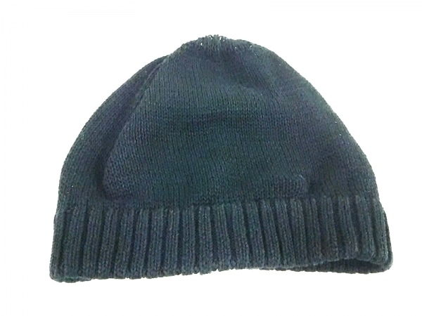 COEUR(クール) ニット帽 黒 コットン