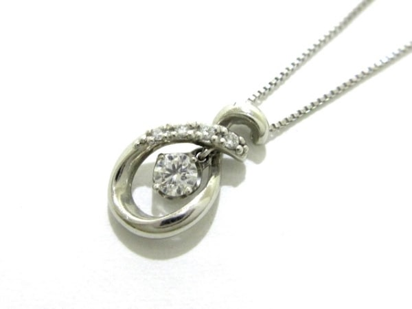 ヴァンドーム青山 ネックレス美品  Pt850×Pt950×ダイヤモンド 0.02カラット
