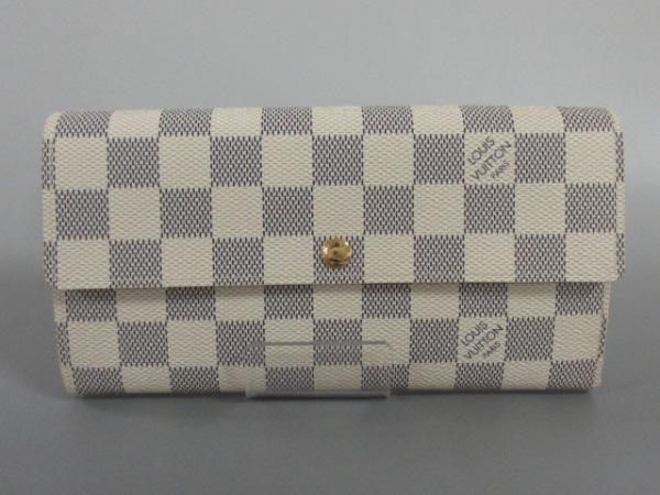 ルイヴィトン 長財布 ダミエ美品  ポルトフォイユ・サラNM2 N61735 アズール