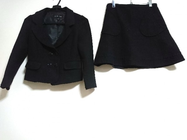 JILL STUART(ジルスチュアート) スカートスーツ レディース美品  黒 ラメ