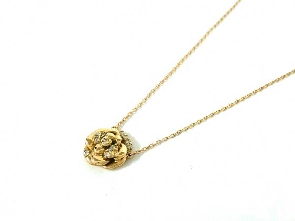 ノーブランド ネックレス美品  K18×ダイヤモンド クリア 総重量:3.1g/008刻印