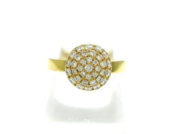 RUGIADA(ルジアダ) リング美品  K18YG×ダイヤモンド