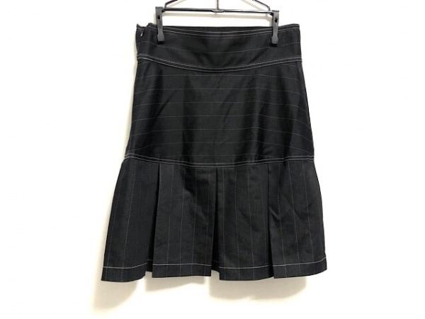 ANNA SUI(アナスイ) ミニスカート サイズ4 S レディース美品  黒×白 プリーツ