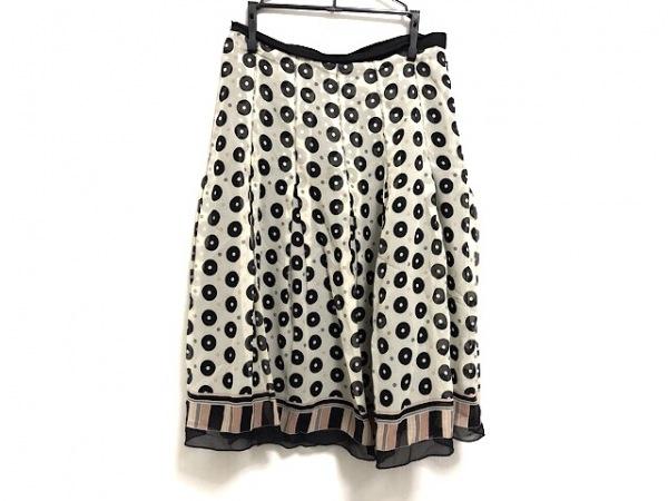 ANNA SUI(アナスイ) ミニスカート サイズ2 S レディース美品  アイボリー×黒×ピンク