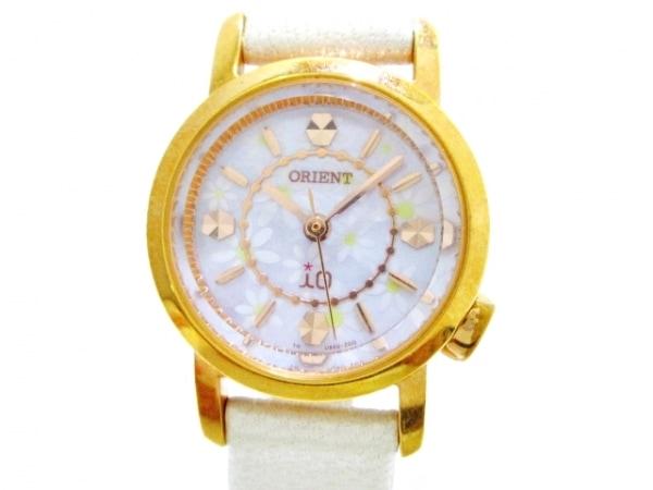 ORIENT(オリエント) 腕時計 UB8U-S0 CS レディース 革ベルト ピンク×白×イエロー