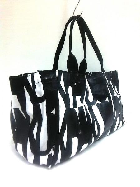 OKIRAKU(オキラク) トートバッグ 黒×白 キャンバス