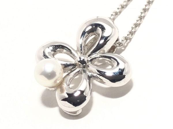 田崎真珠(タサキシンジュ) ネックレス美品  シルバー×パール ホワイトパール