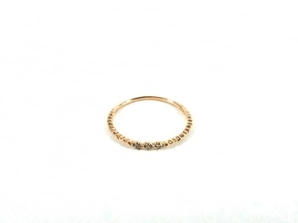 ノーブランド リング美品  K18×ダイヤモンド クリア 総重量:0.7g/0.03刻印