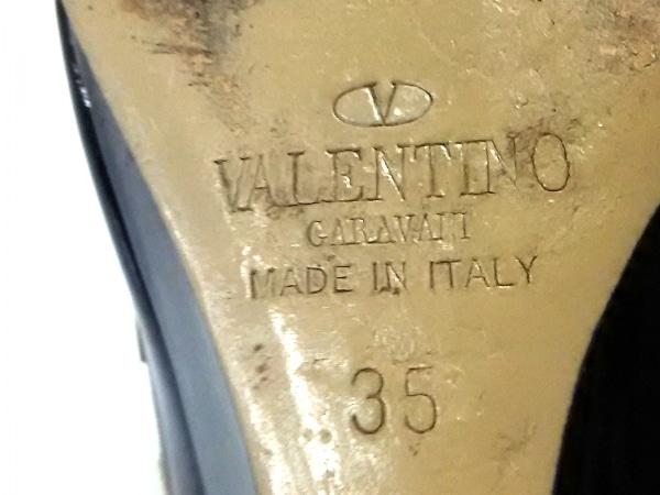 バレンチノガラバーニ パンプス 35 レディース 黒×ピンクベージュ