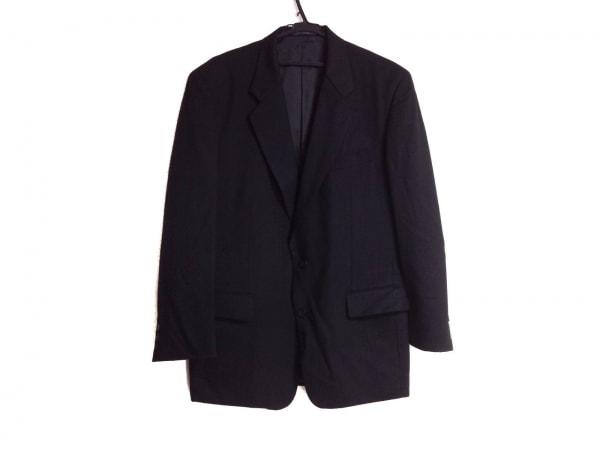 ゴタイリク ジャケット サイズ7L メンズ 黒×ネイビー ストライプ/ネーム刺繍