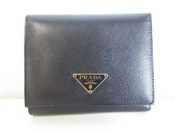 PRADA(プラダ) 3つ折り財布美品  - 1M0176 黒 レザー