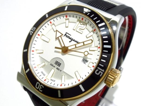 SalvatoreFerragamo(フェラガモ) 腕時計美品  FF311 メンズ 白