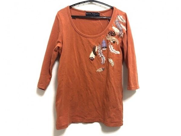 KEITA MARUYAMA(ケイタマルヤマ) 半袖Tシャツ サイズ1 S レディース オレンジ×マルチ