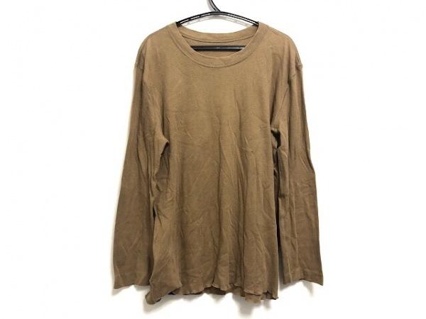 ルシアンペラフィネ 長袖Tシャツ サイズL レディース ライトブラウン