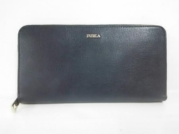FURLA(フルラ) 長財布 黒 ラウンドファスナー レザー