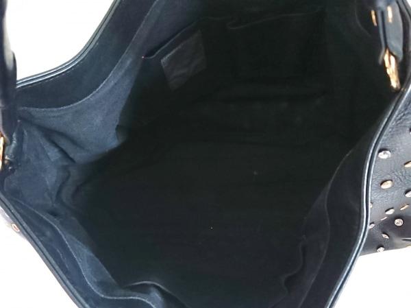 バイオレットハンガー ハンドバッグ美品  黒×ゴールド×シルバー 合皮