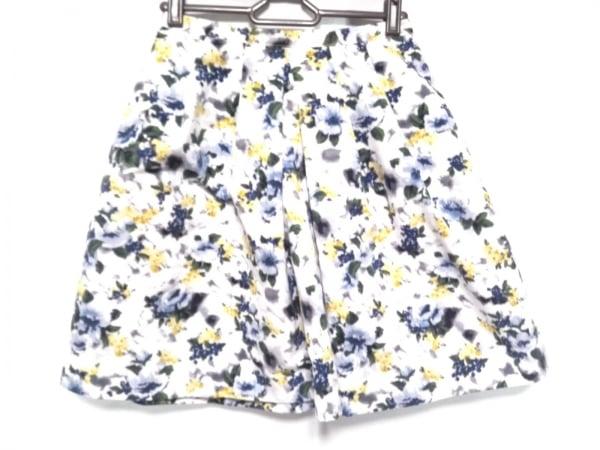アプワイザーリッシェ スカート サイズ1 S レディース美品  白×ブルー×マルチ 花柄